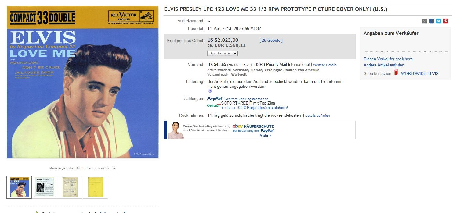 ELVIS BY REQUEST - LOVE ME Ebay2013-04-1443o89