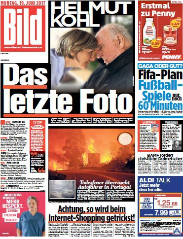 : Bild  Zeitung 19 Juni 2017