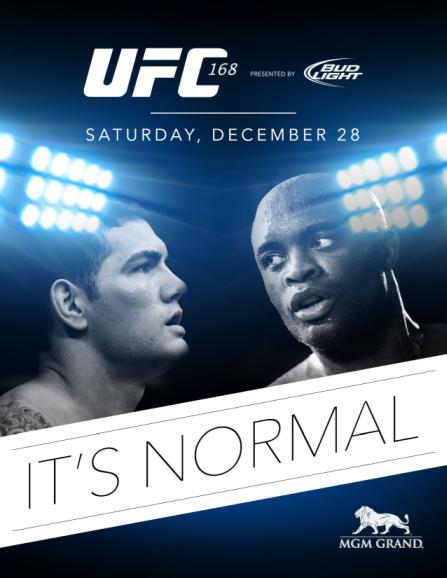 Ufc 168 Poster UFC 168: Weedman vs Sp...