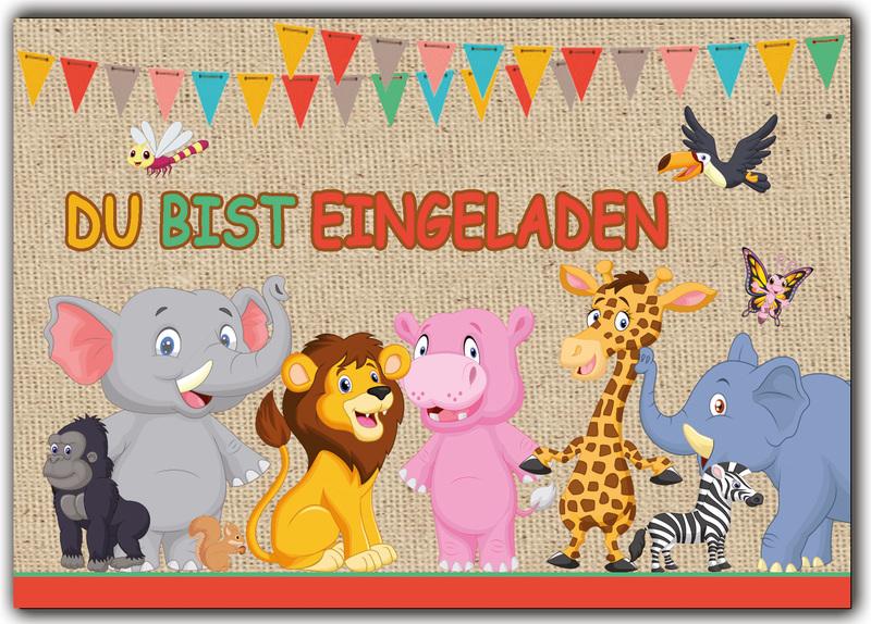 einladungskarten kindergeburtstag tiere – cloudhash, Einladung