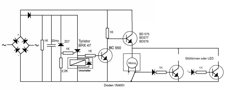 Schaltplan für elektronischen Fahrtrichtungsschalter Mä H0 - Stummis ...