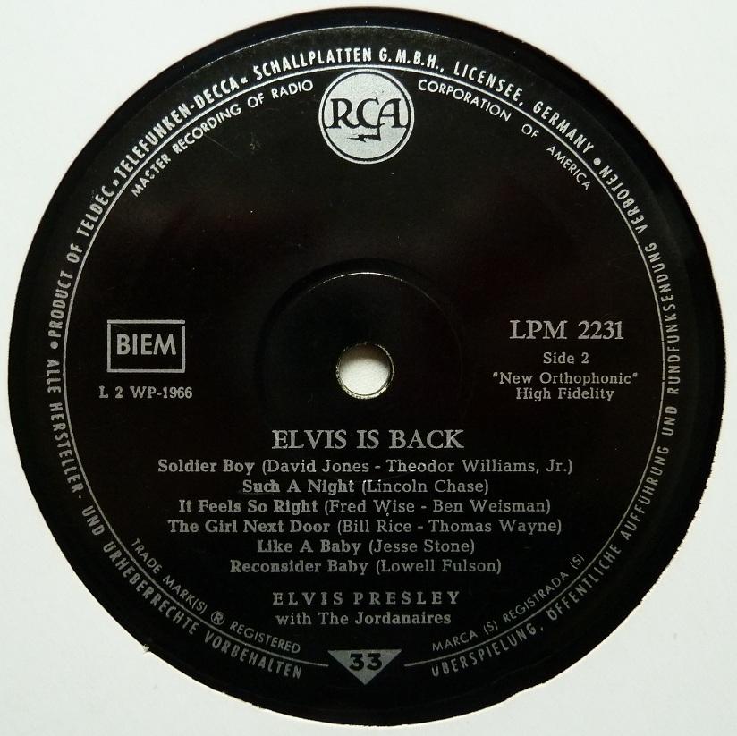 ELVIS IS BACK! Elvisisbacklpm60side2xrb6i