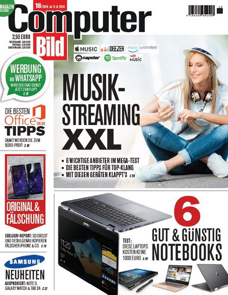 Computer Bild Magazin No 18 vom 17 August 2018