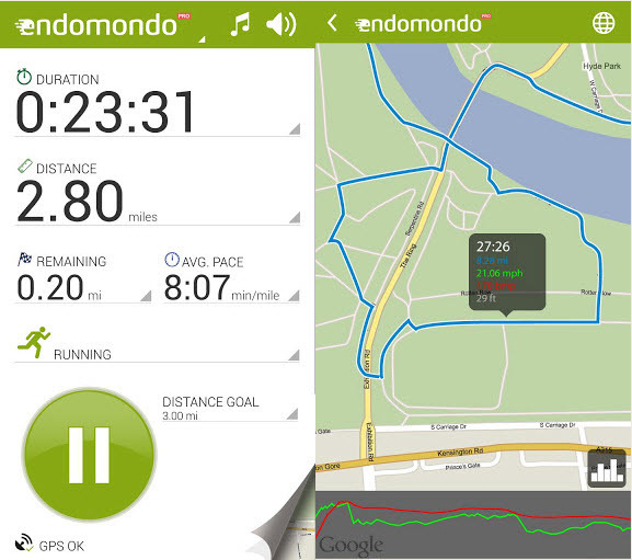 : Android Endomondo Sports Tracker Pro 16.8.1