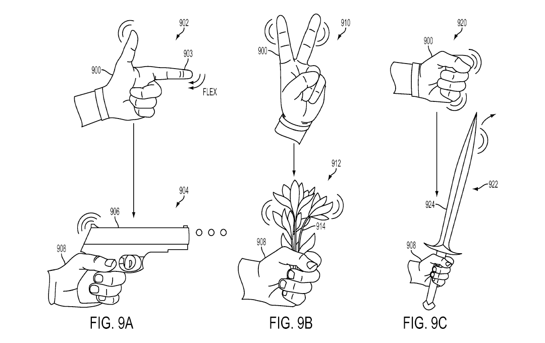 Sony files glove controller patent