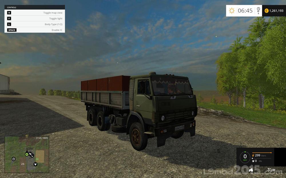 Kamaz 55102 kolxoznik Truck v 1.0