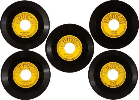 Fünf SUN Singles von Elvis versteigert Five-sun-45so7sds