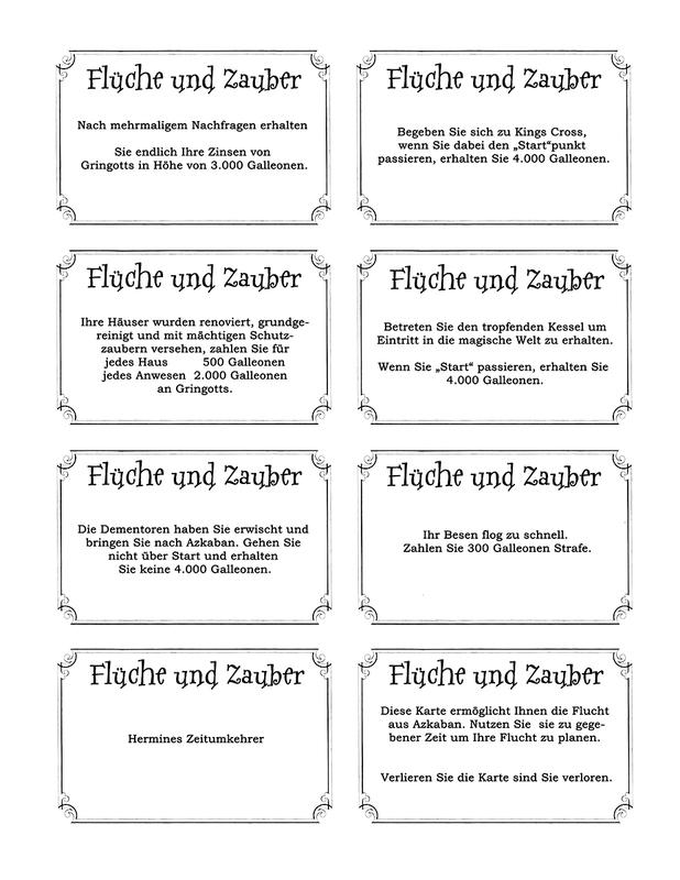 Gemeinschafskarten U003d Zaubereiministerium