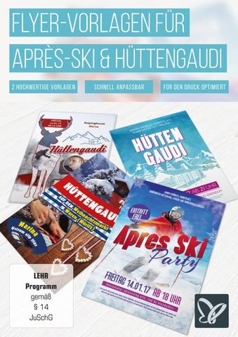 : Psd Tutorials - Flyer-Vorlagen für Après-Ski und Hüttengaudi