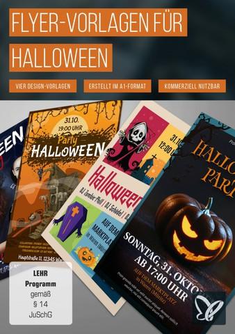 : Psd Tutorials - Flyer Vorlagen für Halloween