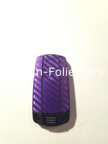carbon violett lila schl ssl folie bmw key 1 3 5 x5 x e60 e70 e90 e91 e92 e93m ebay. Black Bedroom Furniture Sets. Home Design Ideas
