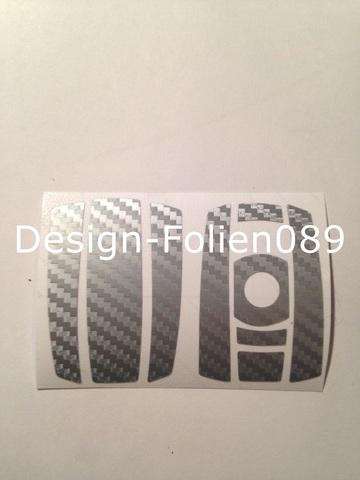 carbon silber schl ssel folie bmw key 1er 3er 5er x5 x6 e60 e70 e90 e91 e92 e93 ebay. Black Bedroom Furniture Sets. Home Design Ideas