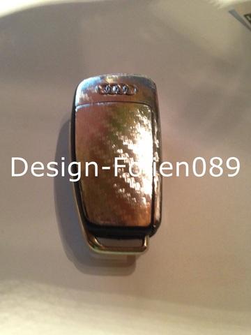 carbon chrom silber folie schl ssel audi tt a1 8j a6 a3 8p a4 4f s3 s4 b7 q7 rs ebay. Black Bedroom Furniture Sets. Home Design Ideas