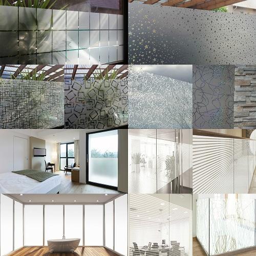 6 67 m sichtschutzfolie milchglasfolie frosted fenster. Black Bedroom Furniture Sets. Home Design Ideas