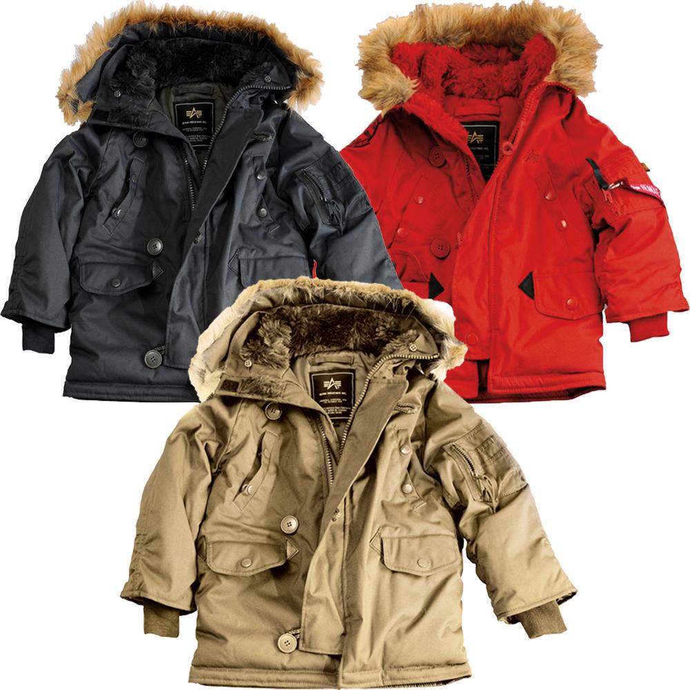 alpha industries kids explorer veste d 39 hiver veste pour enfants parka fourrure ebay. Black Bedroom Furniture Sets. Home Design Ideas