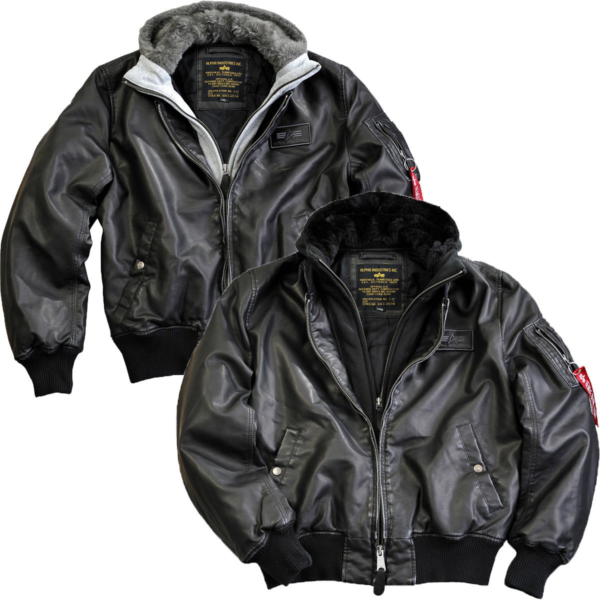alpha industries ma 1 d tec fl leather jacket flight. Black Bedroom Furniture Sets. Home Design Ideas