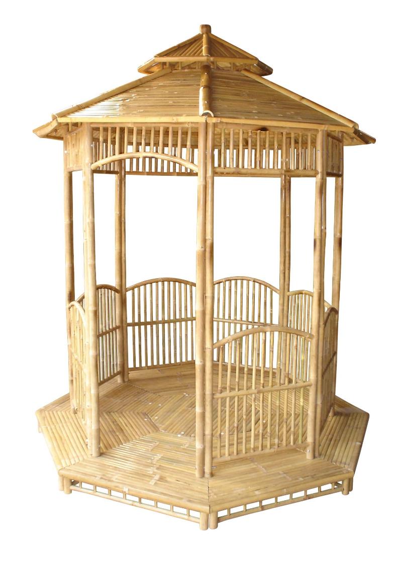Pavillons gartenhaus gazebo bambus pavillon partyzelt holzhaus - Bambus gartenhaus ...