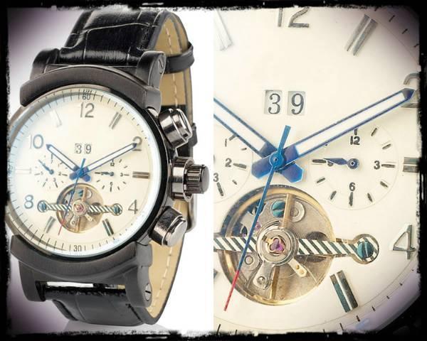 Γνήσιο St Leonhard αυτόματο ρολόι με look χρονογράφου!