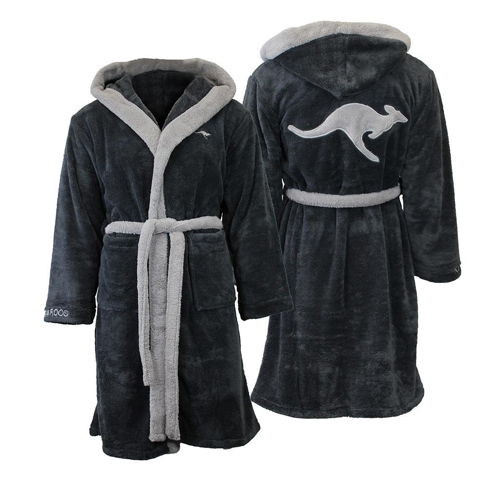 kangaroos damen herren kapuzenbademantel bademantel saunamantel morgenmantel neu. Black Bedroom Furniture Sets. Home Design Ideas