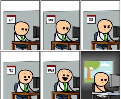 Haftasonunu bekleyenlerin halleri ve bilgisayar halleri