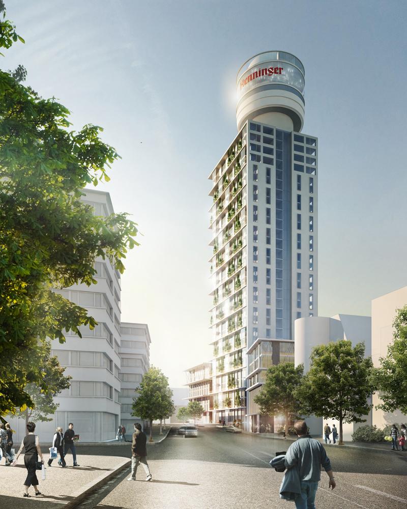 Hochhauswelten frankfurt neubau henninger turm 140m - Architekturburo frankfurt ...