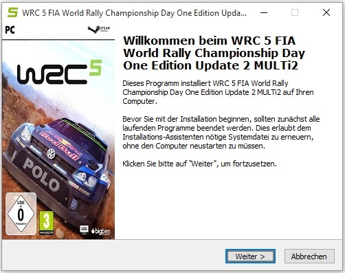 WRC 5 FIA World Rally Championship Day One Edition Update 2
