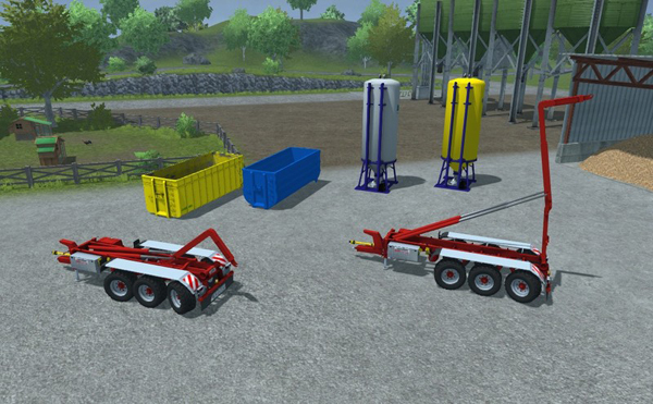 Hooklift pack trailer and implements v 0.95 BETA