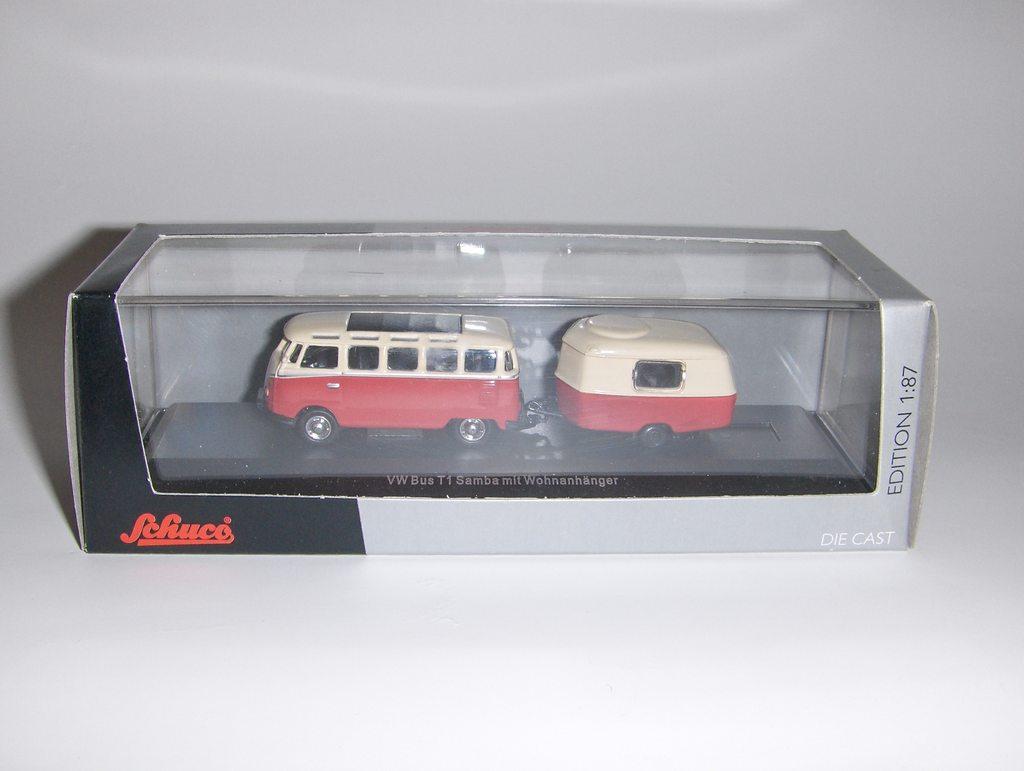 schuco vw bus t1 samba mit wohnanh nger am520 gebraucht. Black Bedroom Furniture Sets. Home Design Ideas
