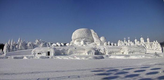 Rzeźby ze śniegu 52