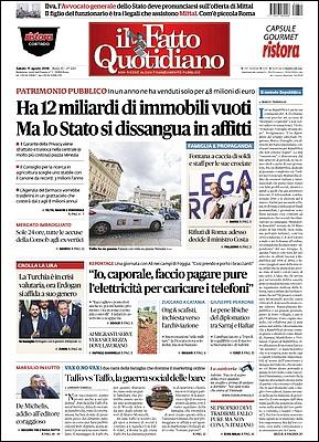Il Fatto Quotidiano - 11 Agosto 2018 [Opt.]