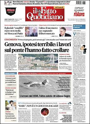 Il Fatto Quotidiano - 20 Agosto 2018 [Opt.]