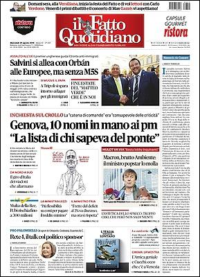 Il Fatto Quotidiano - 29 Agosto 2018 [Opt.]