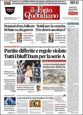 Il Fatto Quotidiano - 30 Agosto 2018 [Opt.]