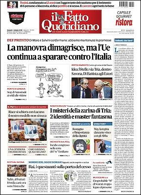 Il Fatto Quotidiano - 4 Ottobre 2018 [Opt.]