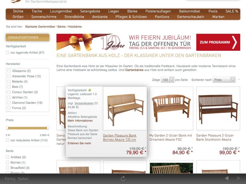 garten und exklusiver 15 gutschein auf fast alles mit 59 mbw. Black Bedroom Furniture Sets. Home Design Ideas