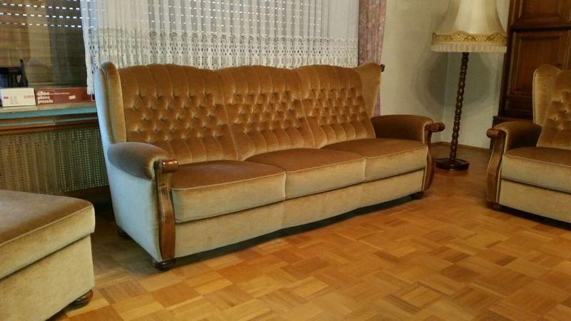 schn ppchen sitzgarnitur sofa couch chippendale 3er 2er. Black Bedroom Furniture Sets. Home Design Ideas