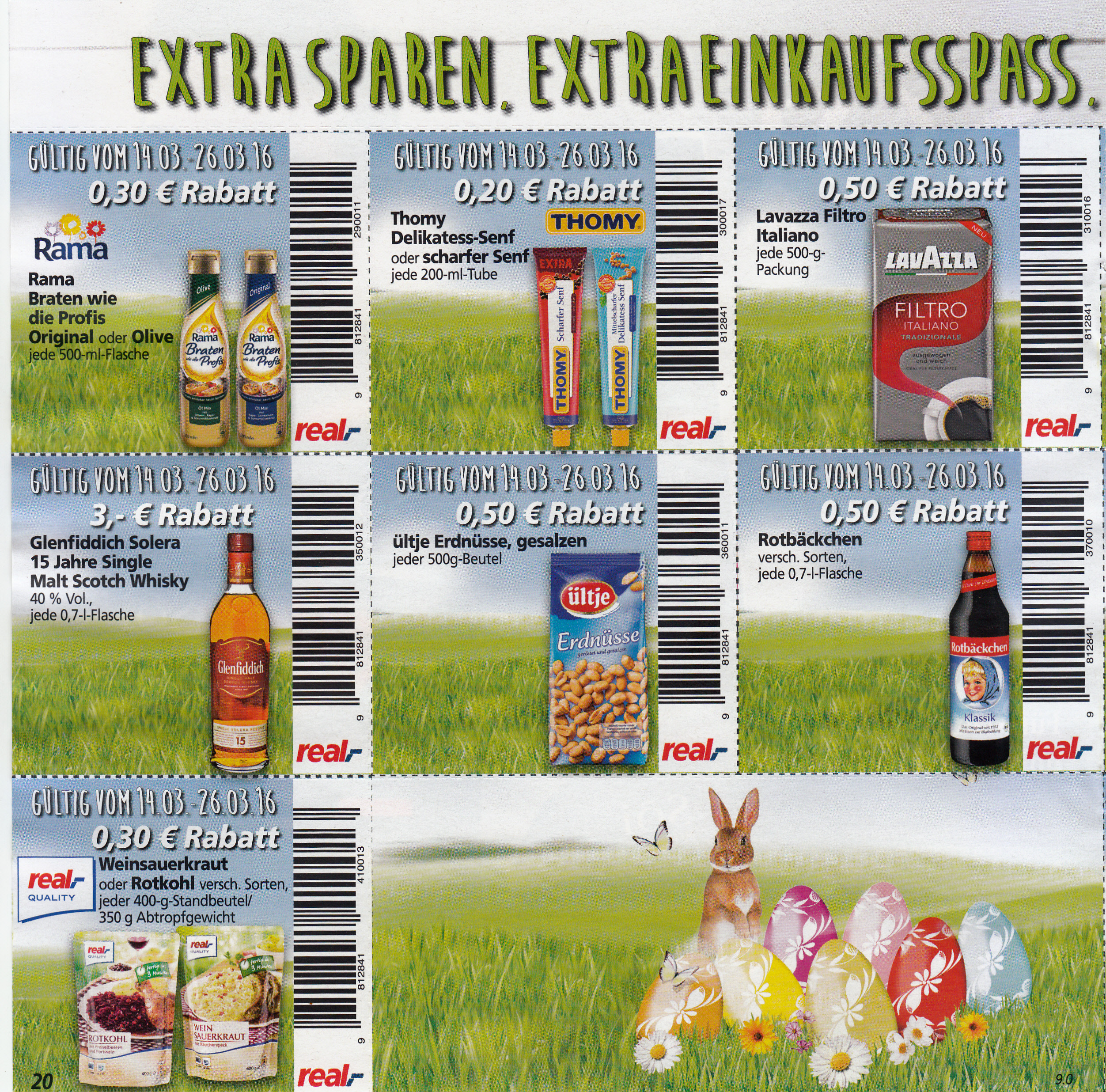 Rabatt coupons real