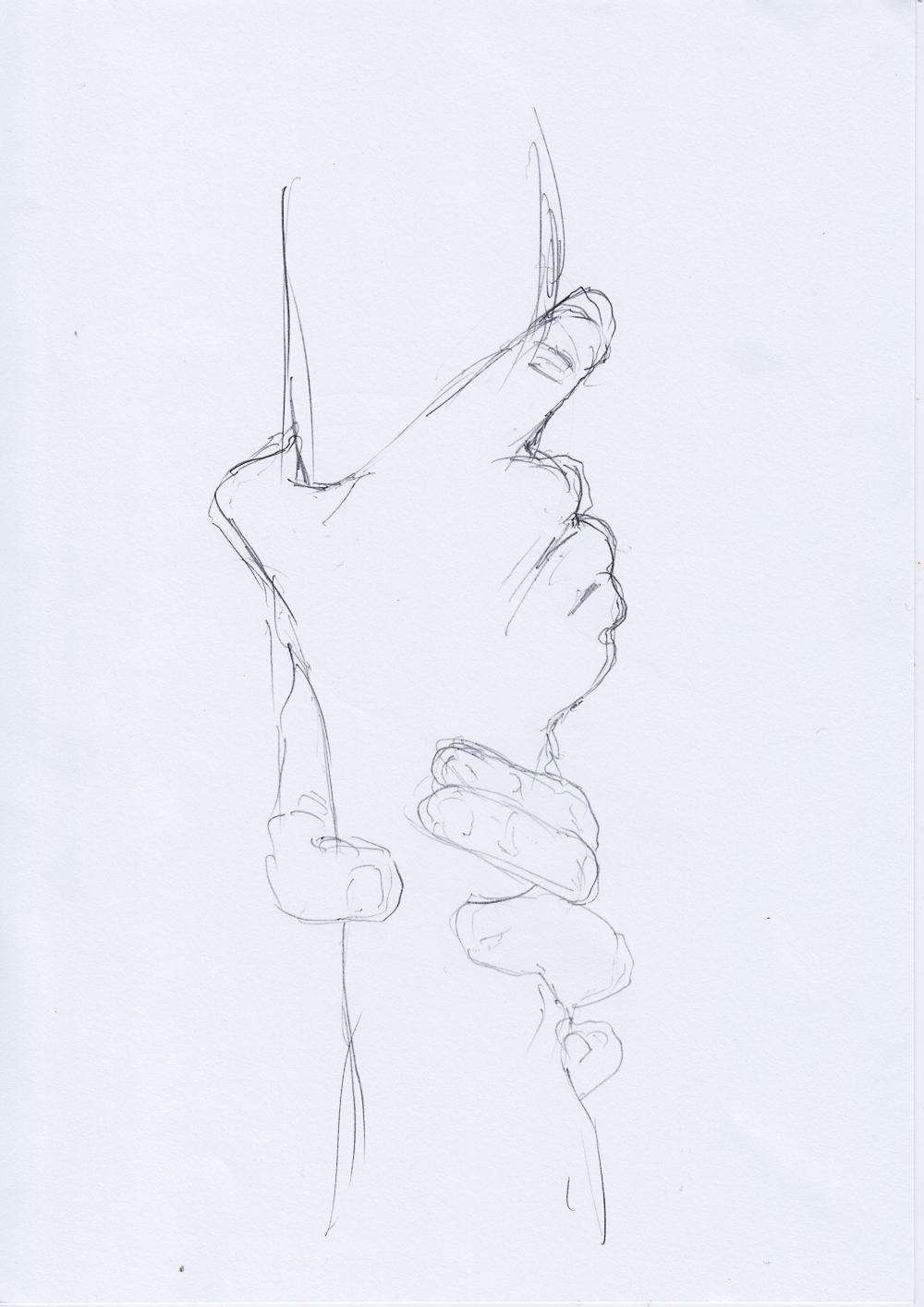 Anatomie Übungen 3/ sketchdaily
