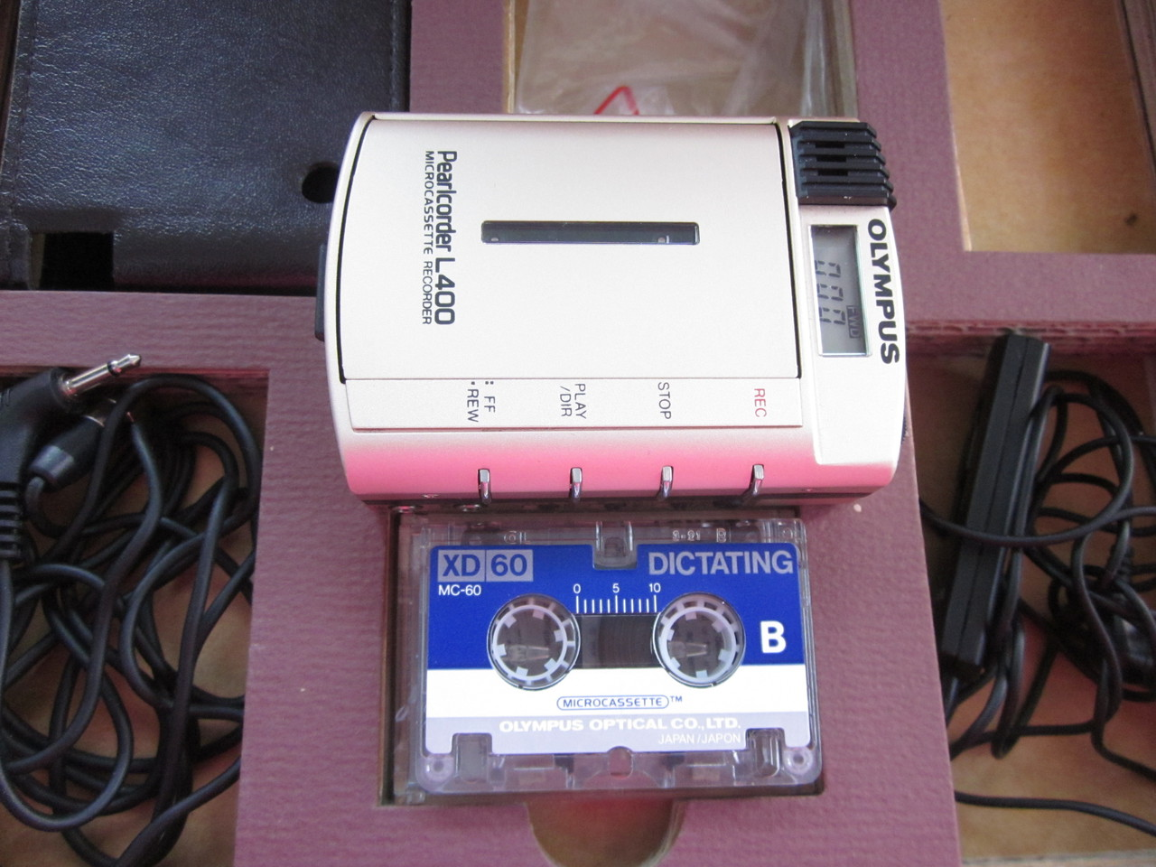 olympus pearlcorder l400 microcassetten recorder. Black Bedroom Furniture Sets. Home Design Ideas