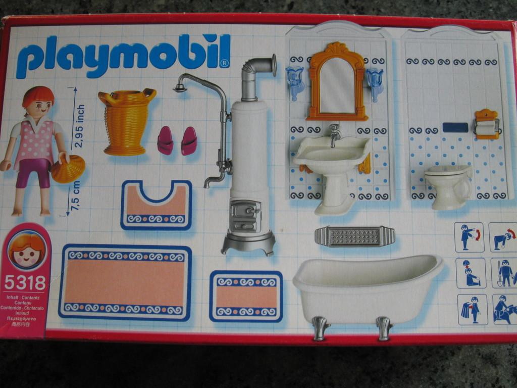 Playmobil 5318 Badezimmer Mit Wanne Fürs Puppenhaus Puppenstube
