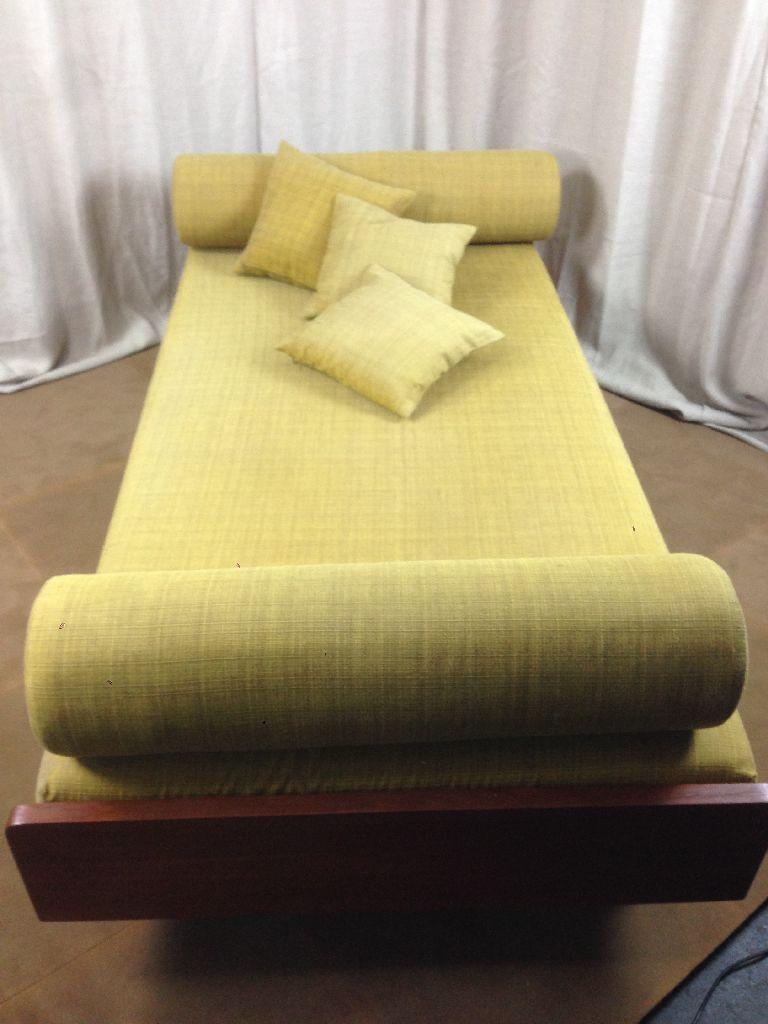 Couch bett daybed 8 kissen 50 60er jahre ebay for Couch 60 jahre