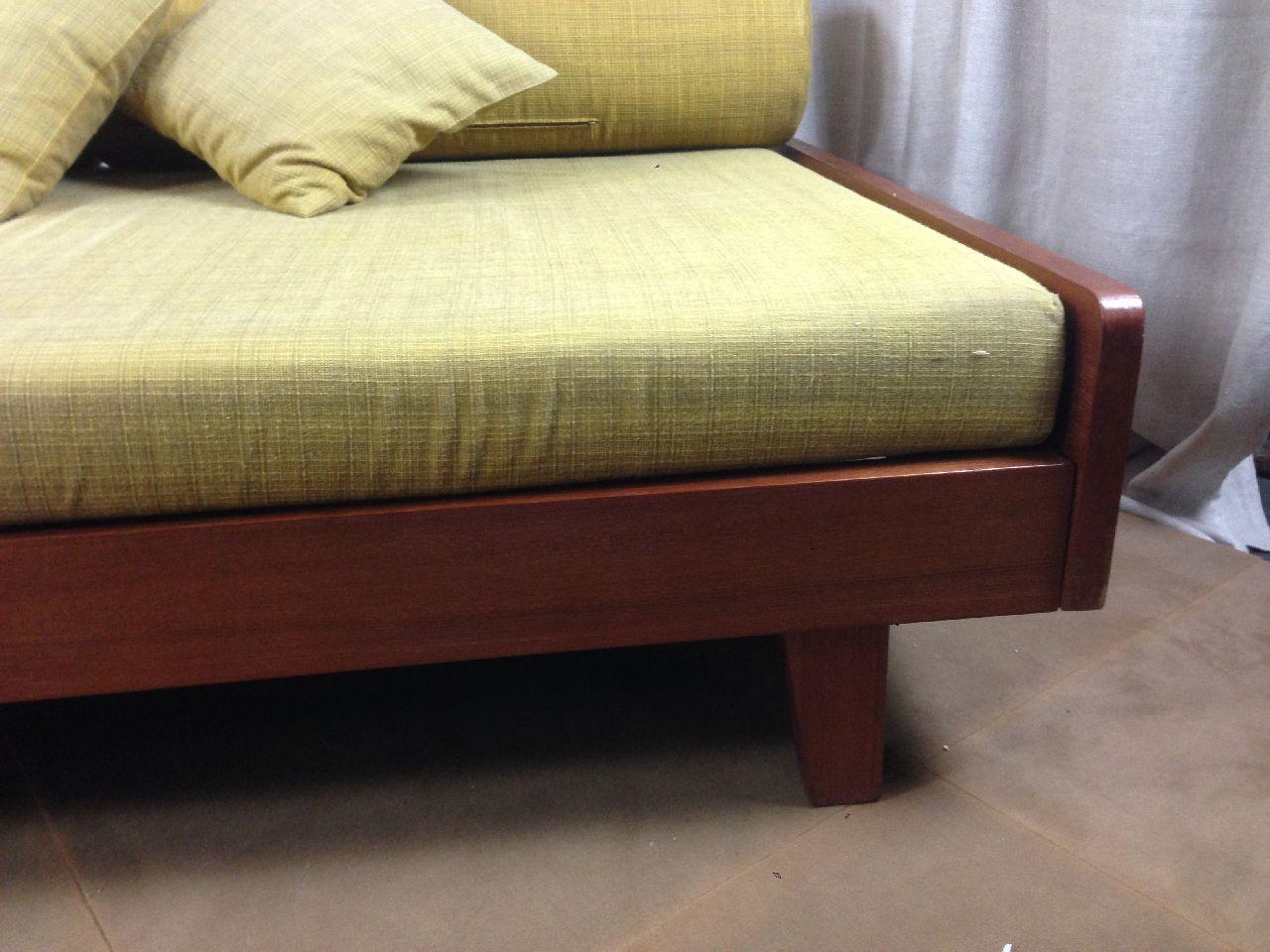 Couch bett daybed 8 kissen 50 60er jahre ebay for Bett 60er jahre