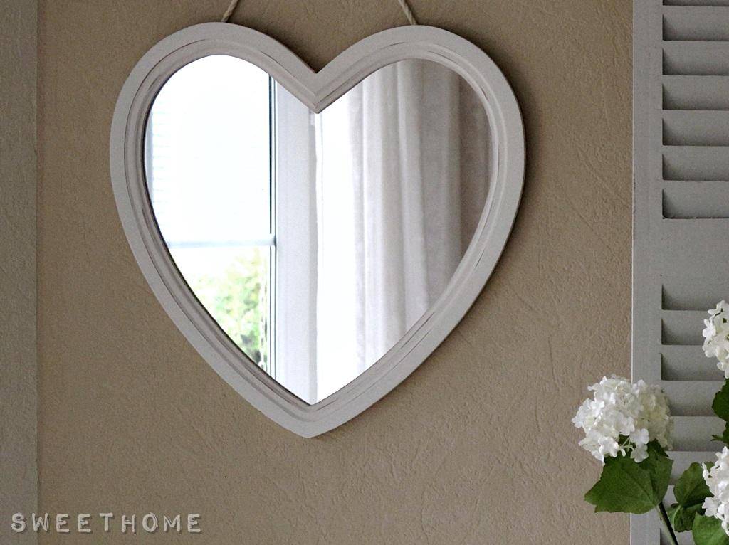 gro er spiegel herz wei herzspiegel holzrahmen holz 37 5 x 38 cm shabby ebay. Black Bedroom Furniture Sets. Home Design Ideas