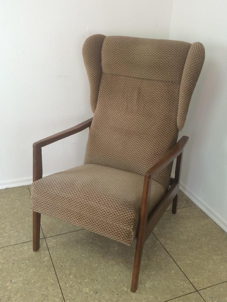 70er jahre teak stuhl sessel easy chair ohrensessel danish. Black Bedroom Furniture Sets. Home Design Ideas
