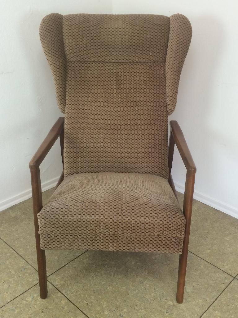 70er jahre teak stuhl sessel easy chair ohrensessel danish for Ohrensessel 70er