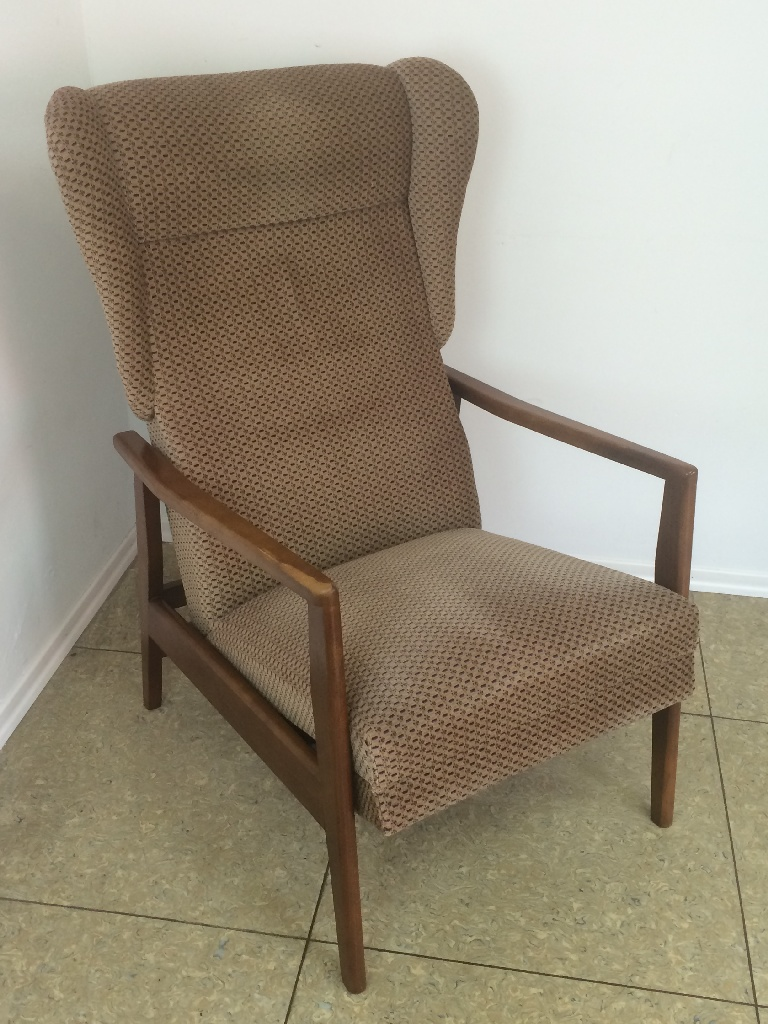 70er jahre teak stuhl sessel easy chair ohrensessel danish for Ohrensessel 70er