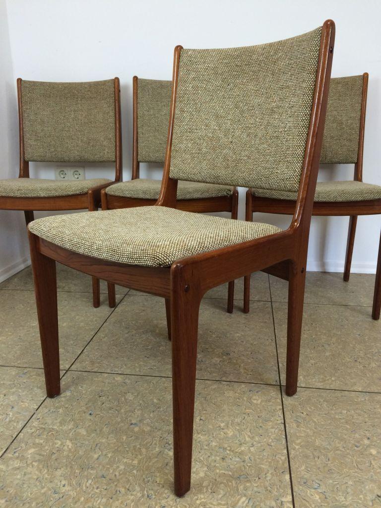5x 70er jahre teak st hle stuhl danish design polsterstuhl denmark mid century ebay. Black Bedroom Furniture Sets. Home Design Ideas