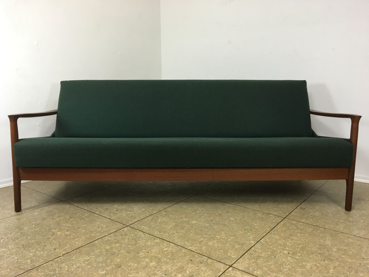 60er 70er jahre teak sofa daybed schlafsofa danish design denmark mid century ebay. Black Bedroom Furniture Sets. Home Design Ideas