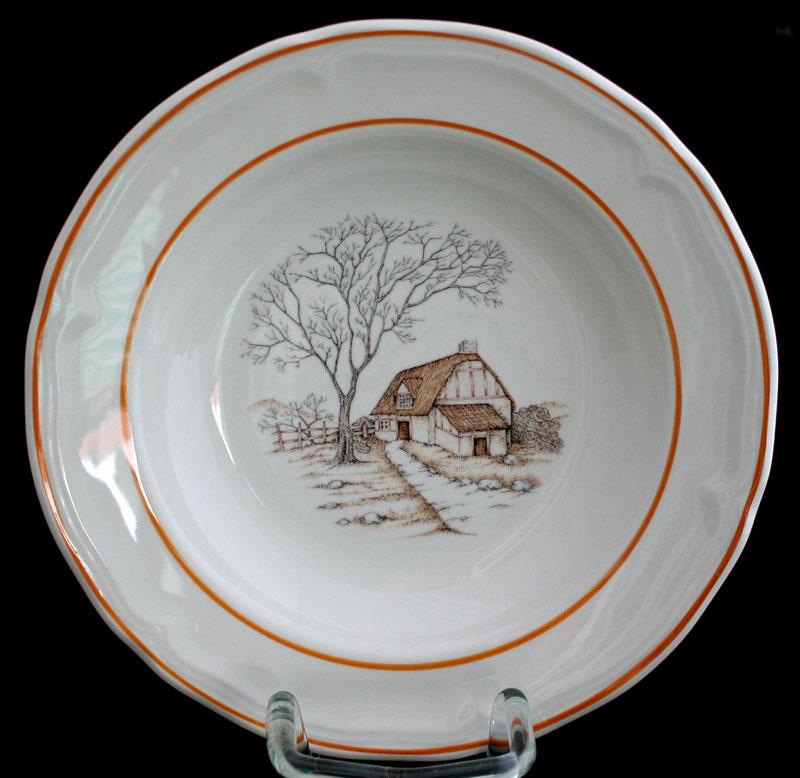 Keramik Suppenteller von Franco Giorgi Quadrifoglio  ~ Geschirr Quadrifoglio