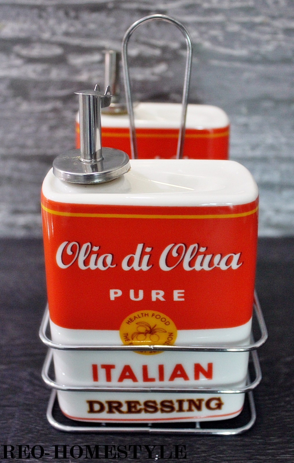 menage essig l salz pfeffer spender retro italian 50er. Black Bedroom Furniture Sets. Home Design Ideas